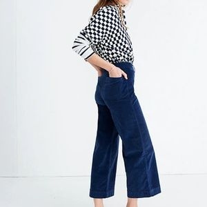 Madewell Size 28T Tall Wide Leg Emmett Crop Pants
